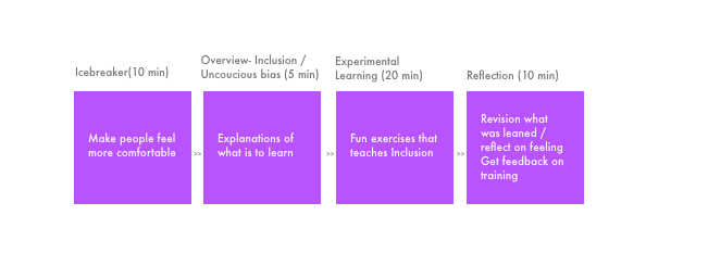 Overview structure of the training