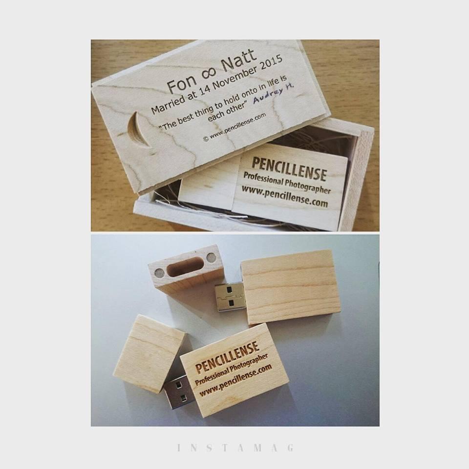 ตัวอย่าง Package Premium ในรูปแบบ Flash drive ที่จัดส่งลูกค้าทุกๆครั้งที่ใช้บริการกับทาง Pencillense