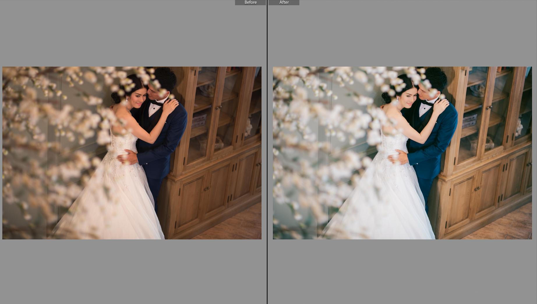 นี่คือตัวอย่างภาพ ด้านซ้ายมือ คือ ภาพที่ยังไม่ได้แต่ง และ ภาพขวามือคือภาพที่แต่งแล้วครับ ^^