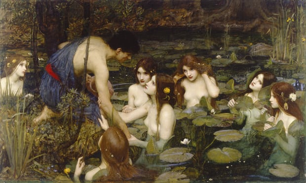 """""""Hylas and the Nymphs"""" by John William Waterhouse"""
