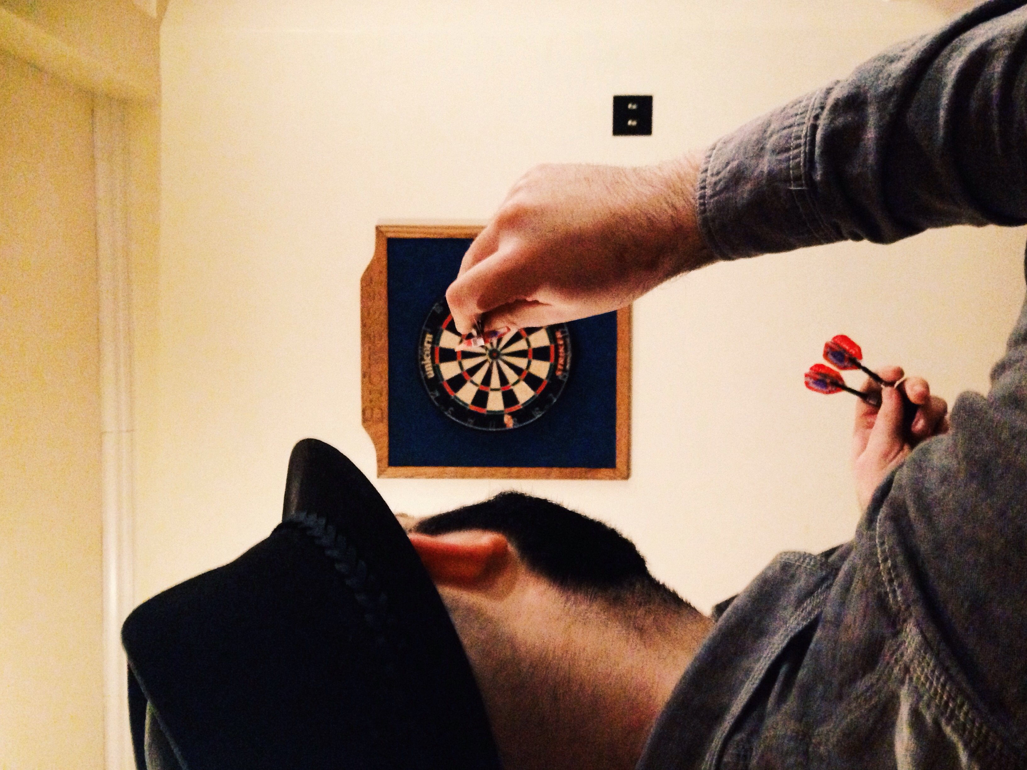 Some late night darts to finish out the evening