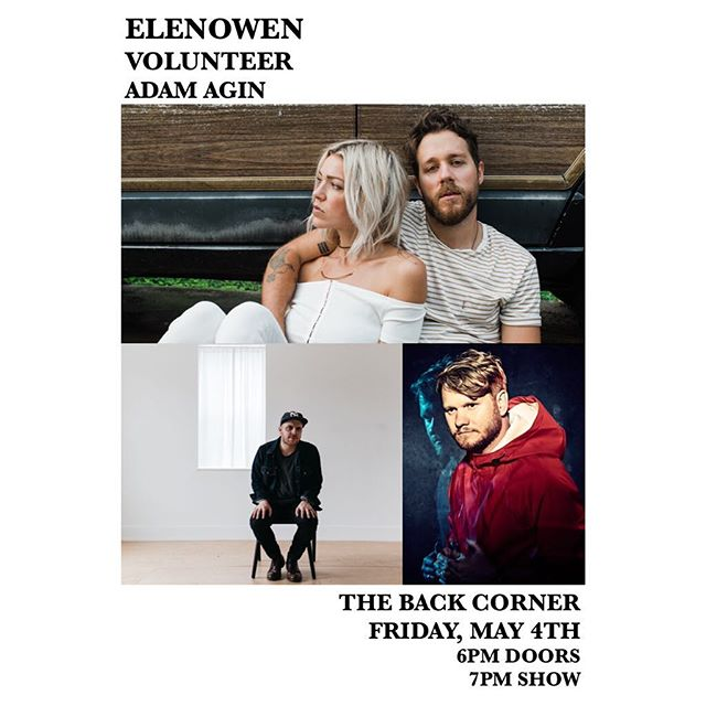 Fam! Adam is playing a solo full band show this upcoming Friday in NASHVILLE. Make sure to get out and jam with these other great artists. Gonna be a great night! Tickets in his bio at @adamagin.