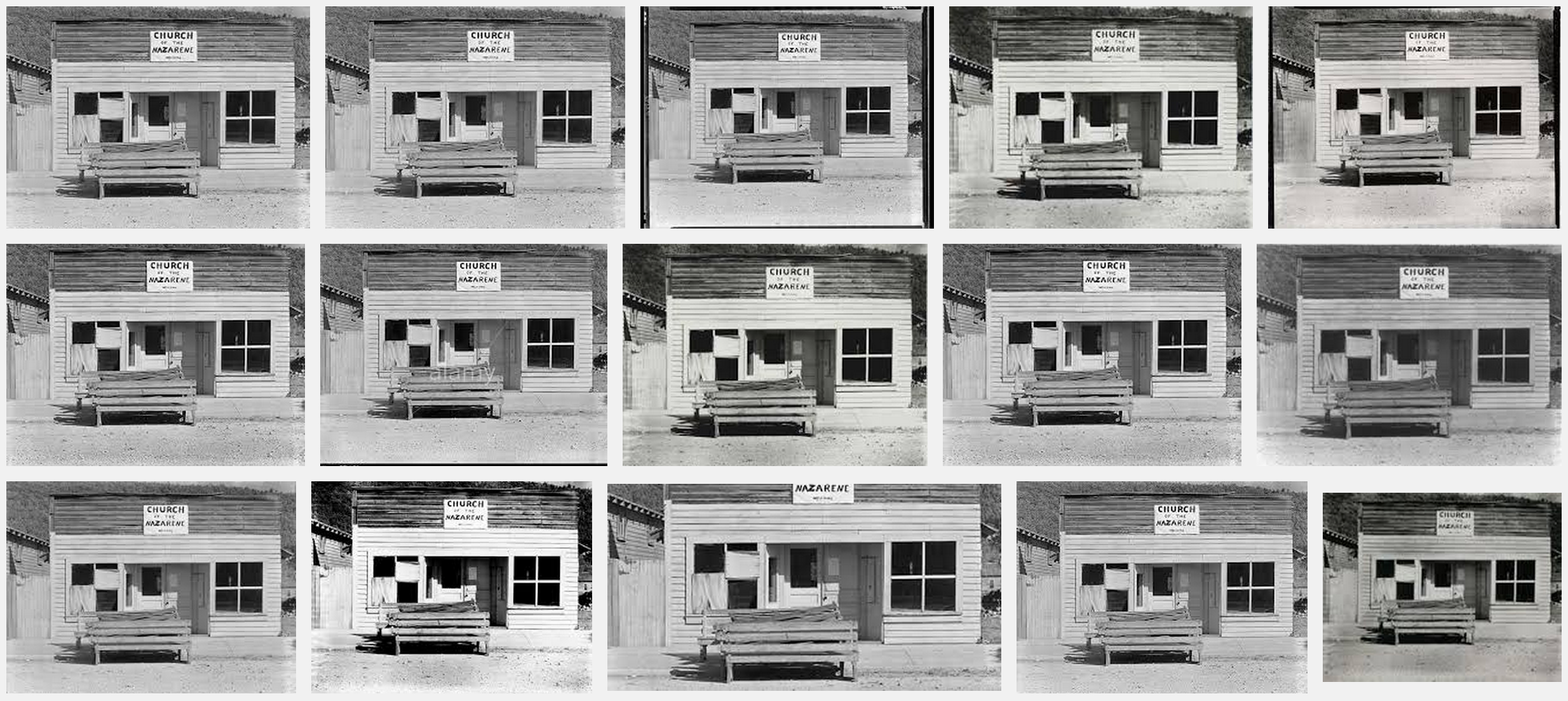 Google Search: Walker Evans' 'Church of the Nazarene, Tennessee 1936'