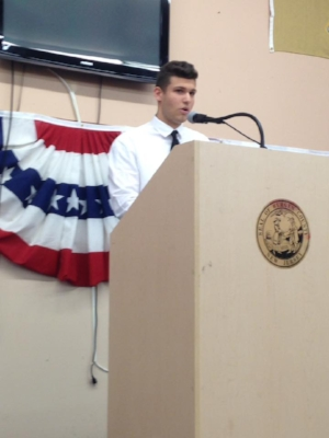Kenny Gonzalez  President of the New Jersey Teenage Republicans
