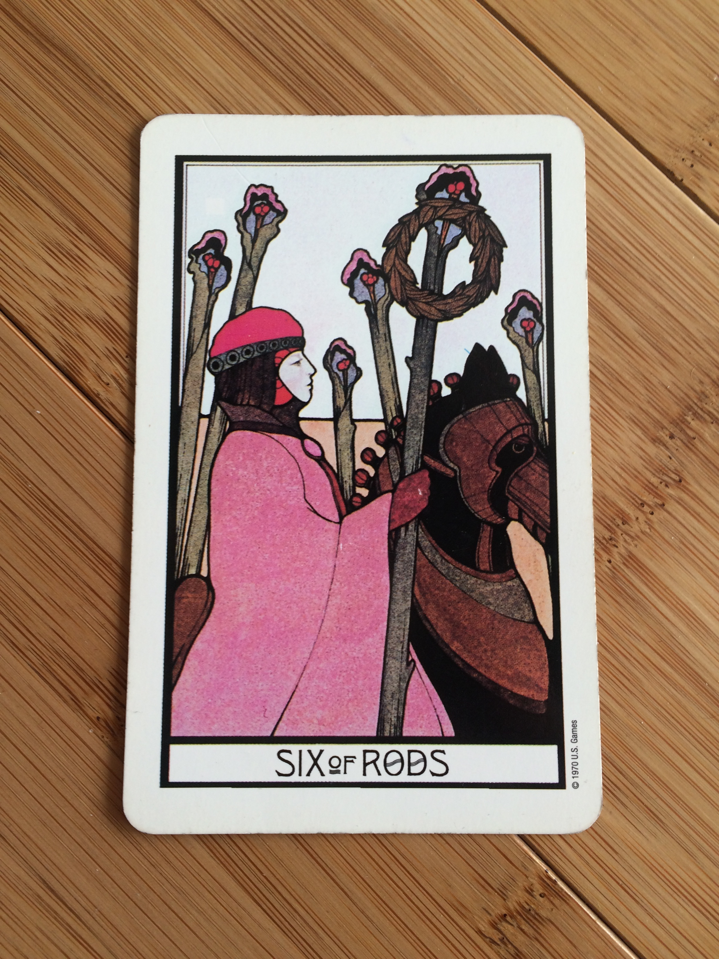 Six of Rods,  Aquarian deck