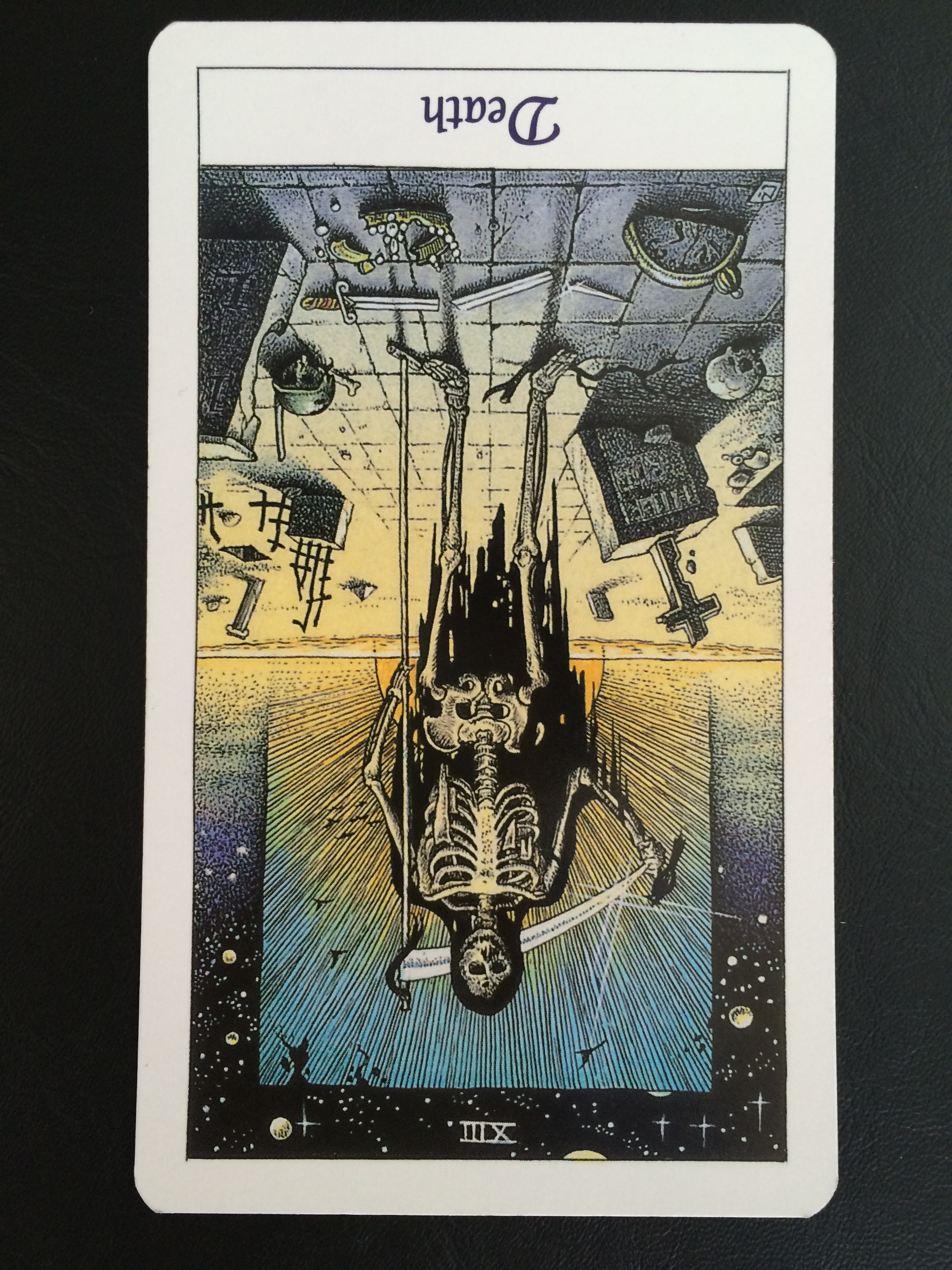 Death card reversed,  The Cosmic Tarot