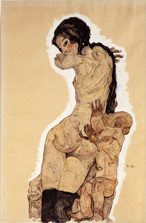 Woman with Homunculus, Egon Schiele, 1910