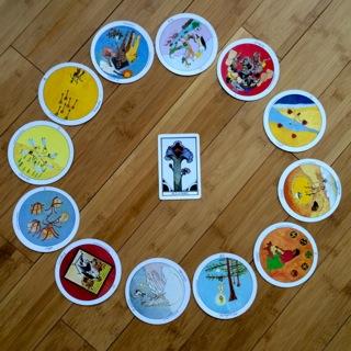 Zodiac spread, Aquarian tarot and the Motherpeace deck