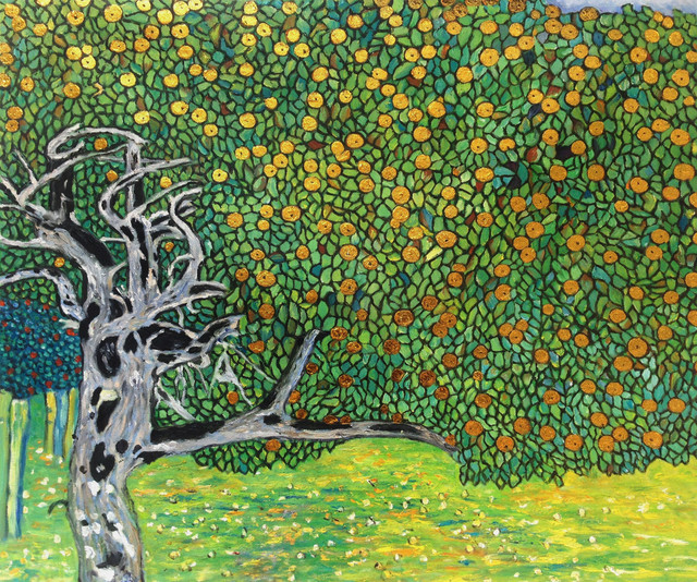Goldener Apfelbaum (Golden Apple Tree), 1903, by Gustav Klimt