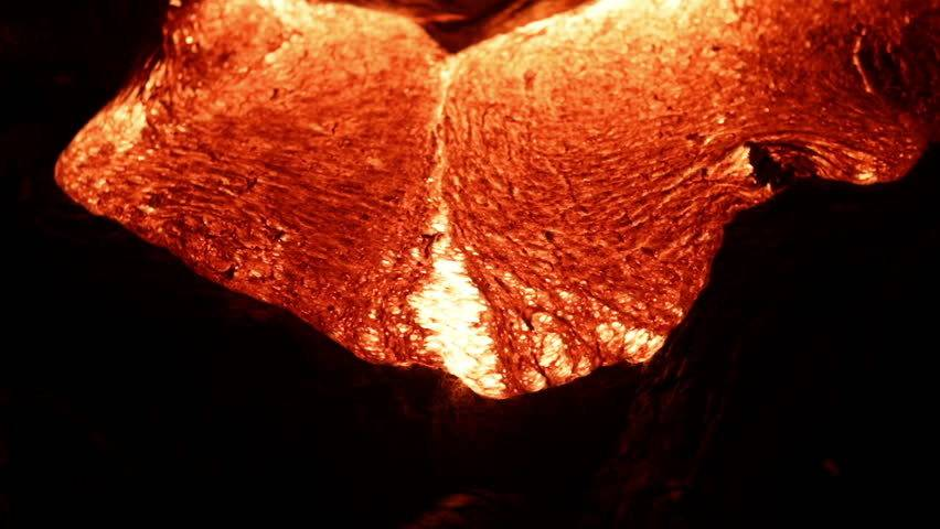 Close-up image of lava from Hawaii's Kīlauea volcano, photographer unknown