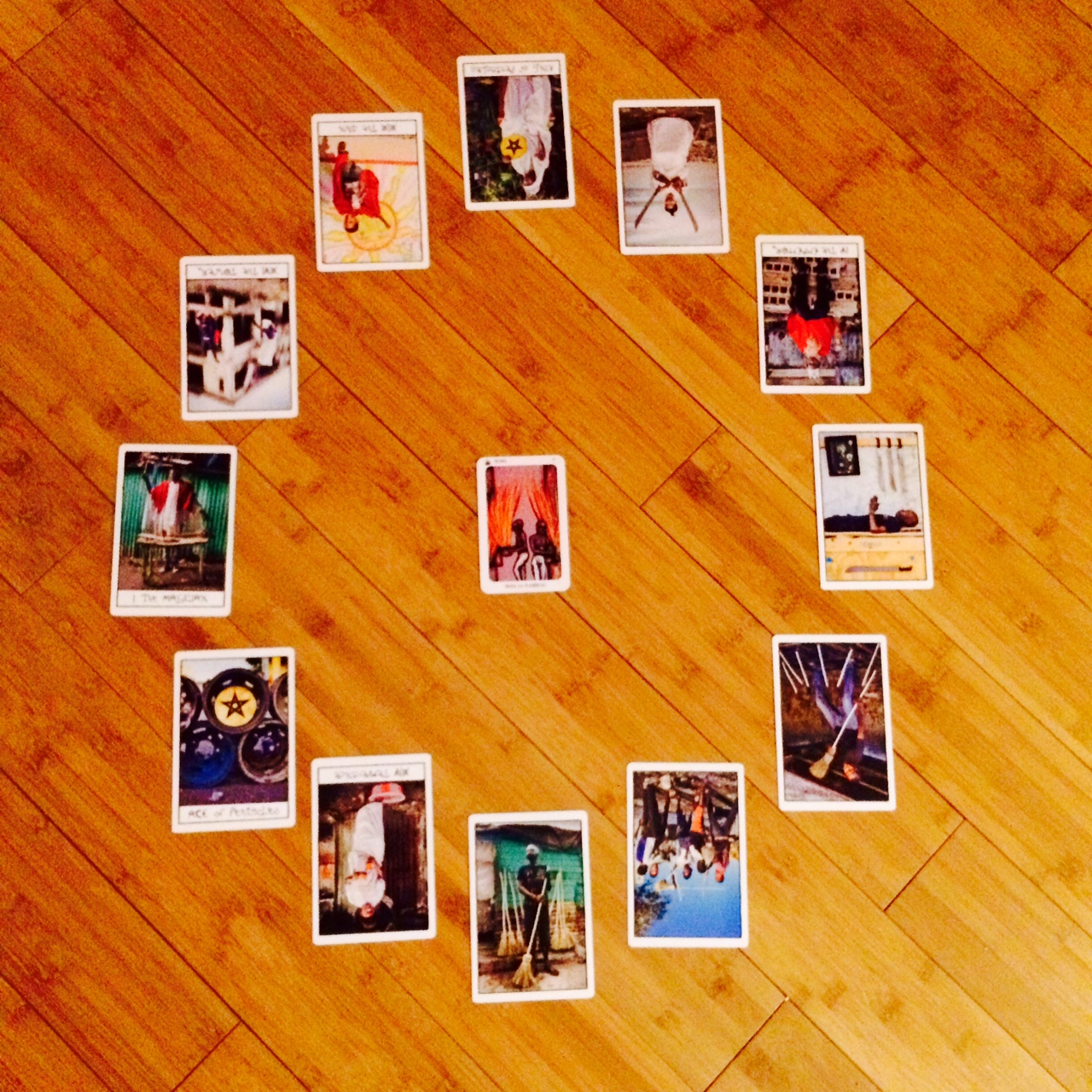 Astrological spread using The New Orleans Voodoo Tarot and  The Ghetto Tarot