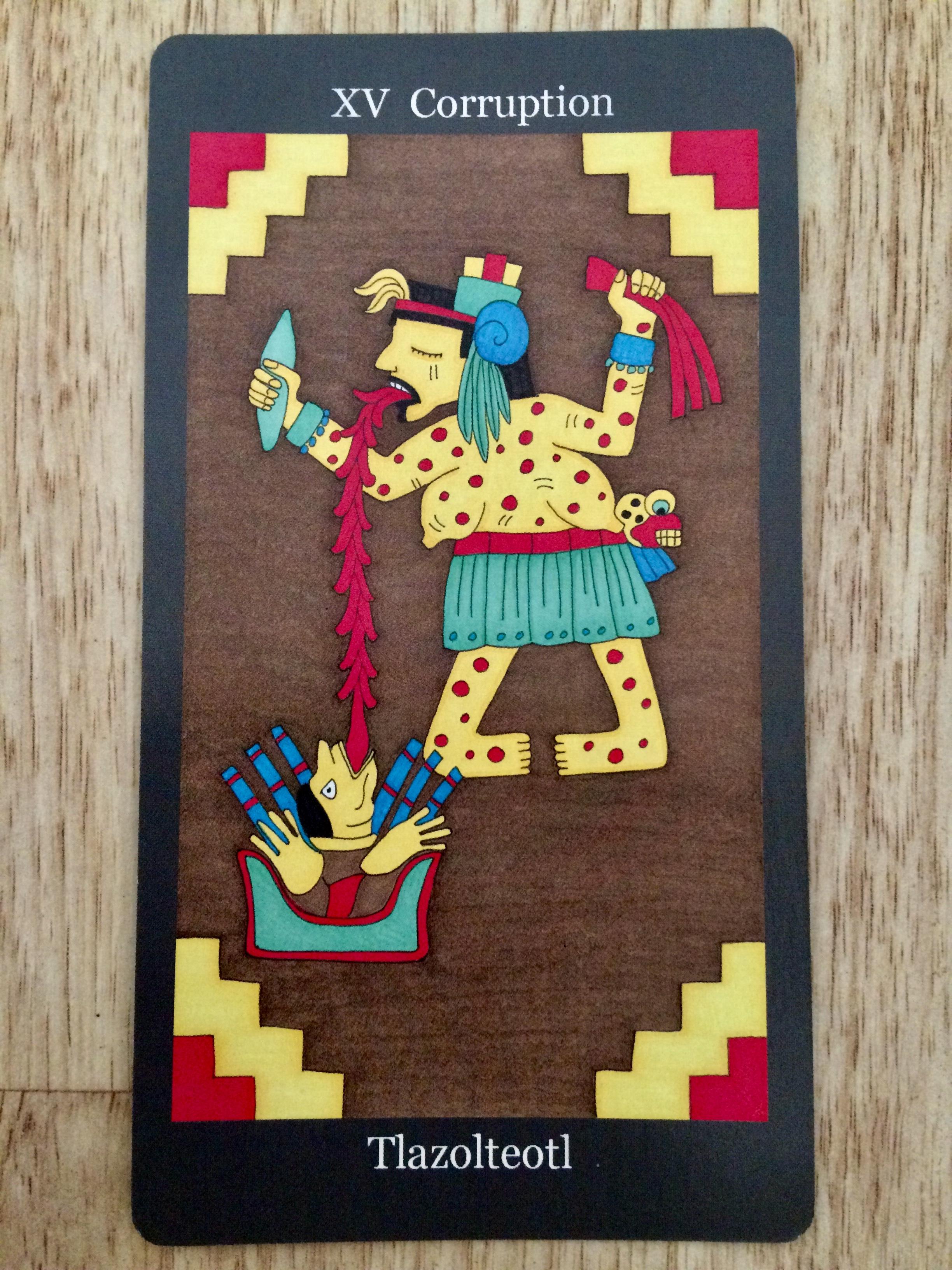 'Corruption',Tlazolteotl, from  Dark Goddess Tarot
