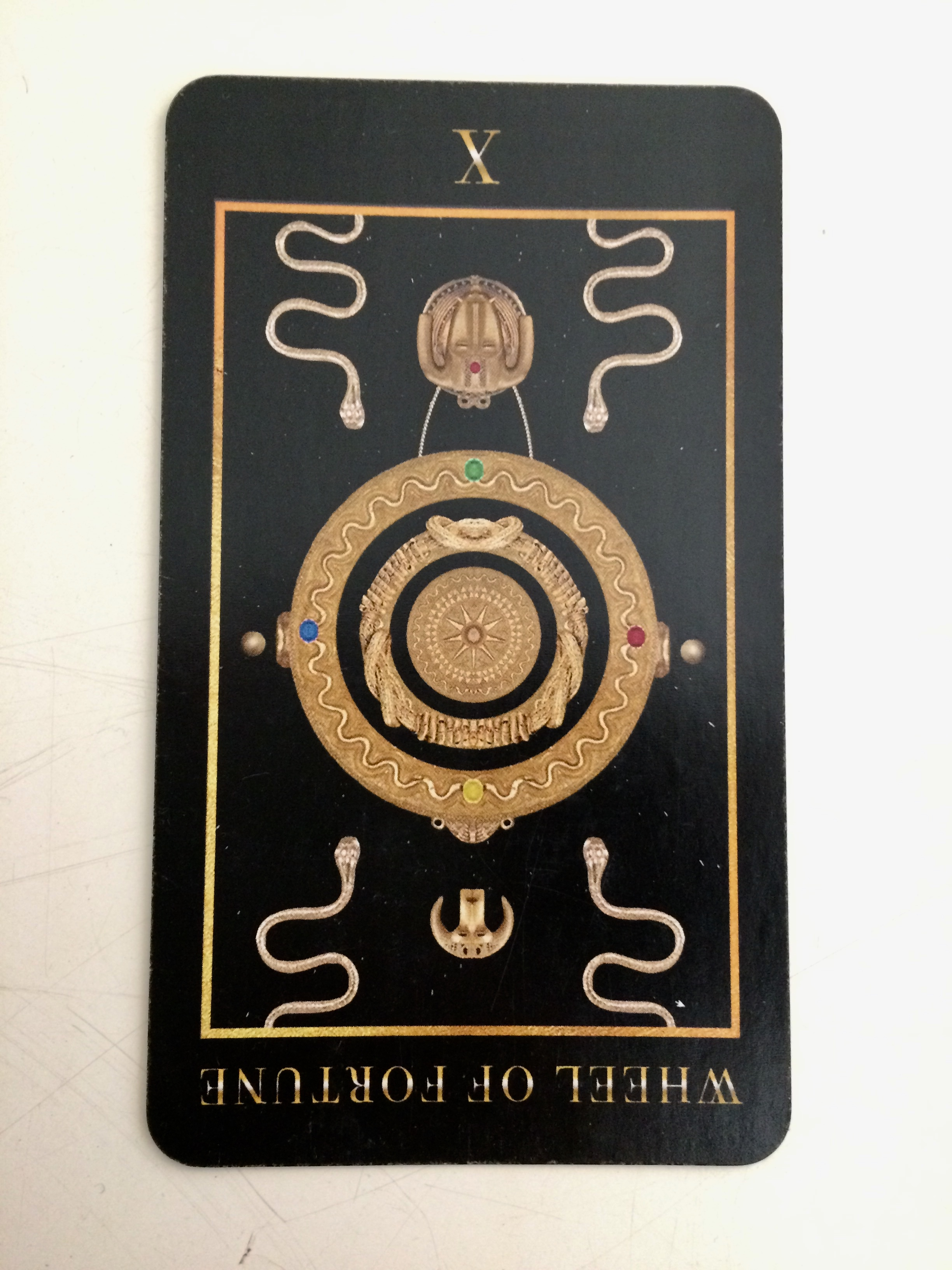 Wheel of Fortune reversed from Manzel's Tarot