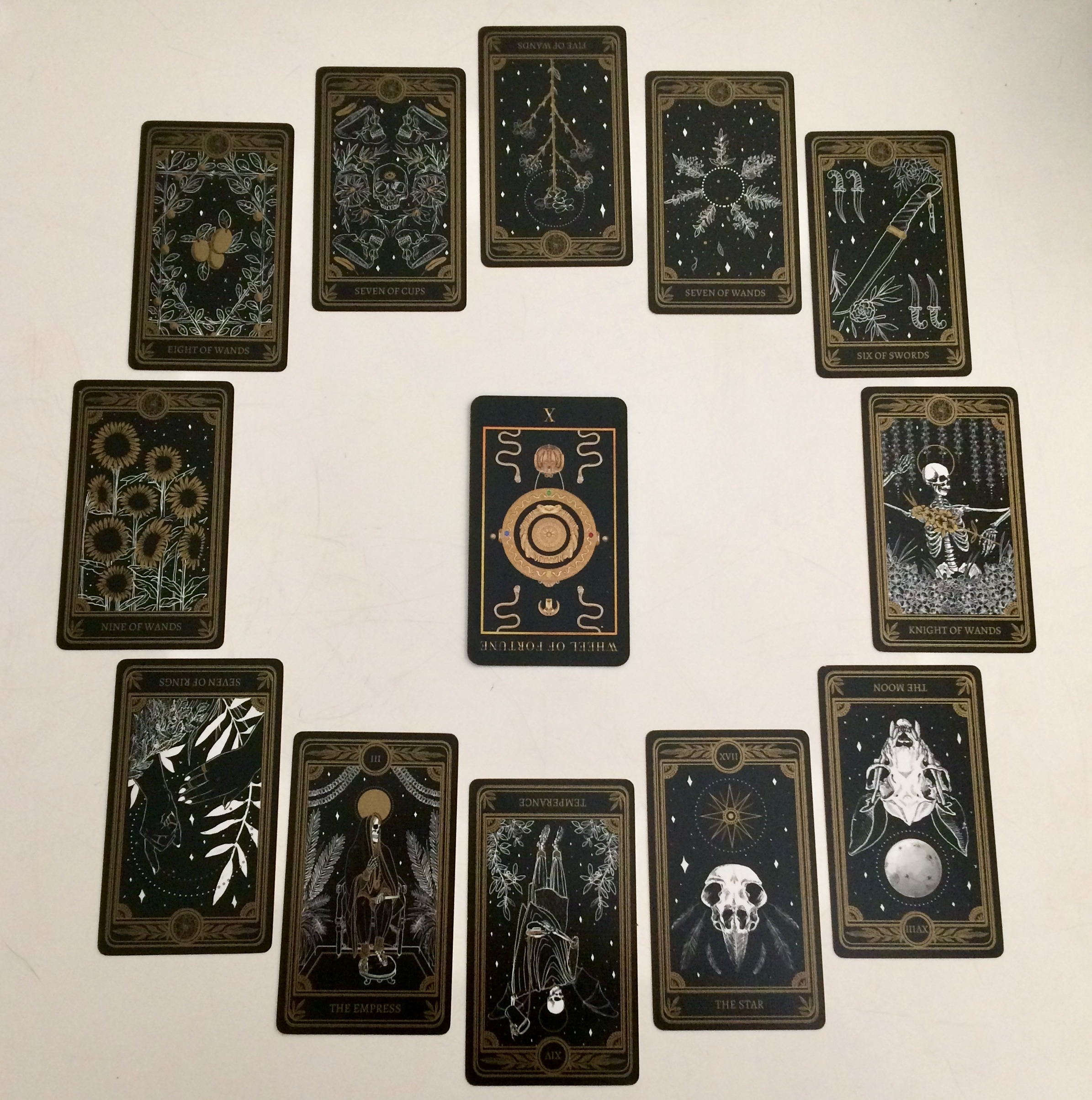 Astrological spread with  Marigold Tarot  and Manzel's Tarot
