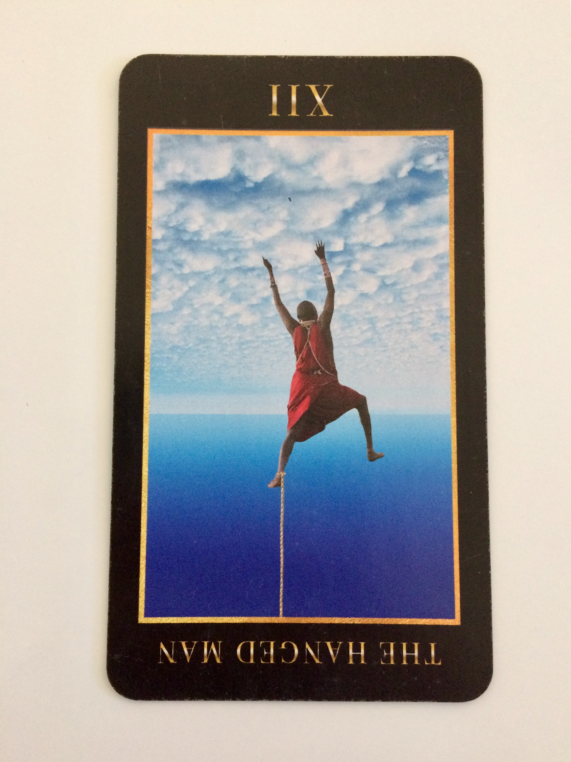 The Hanged Man reversed from  Manzel's Tarot