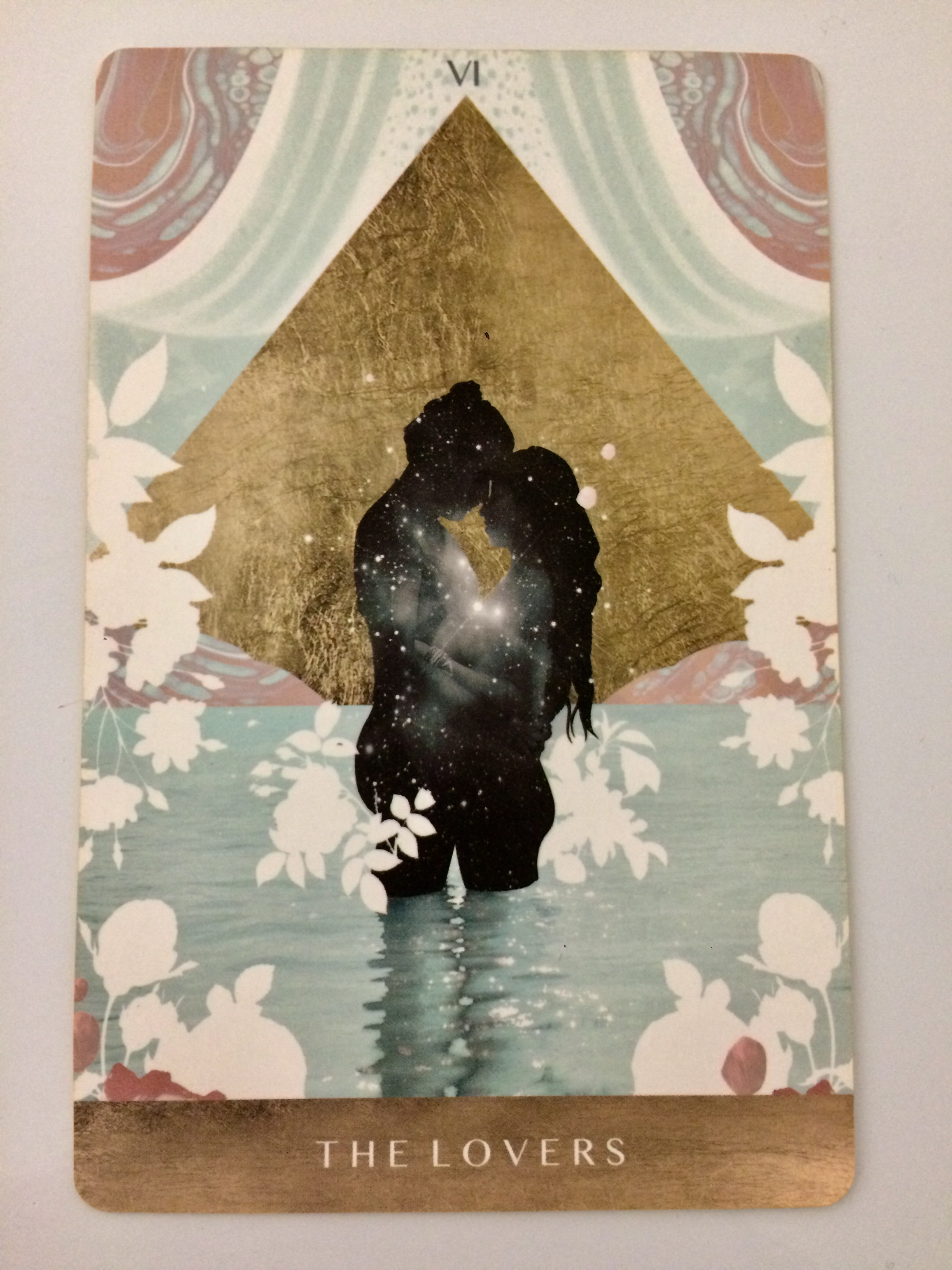 The Lovers card from  The Moonchild Tarot