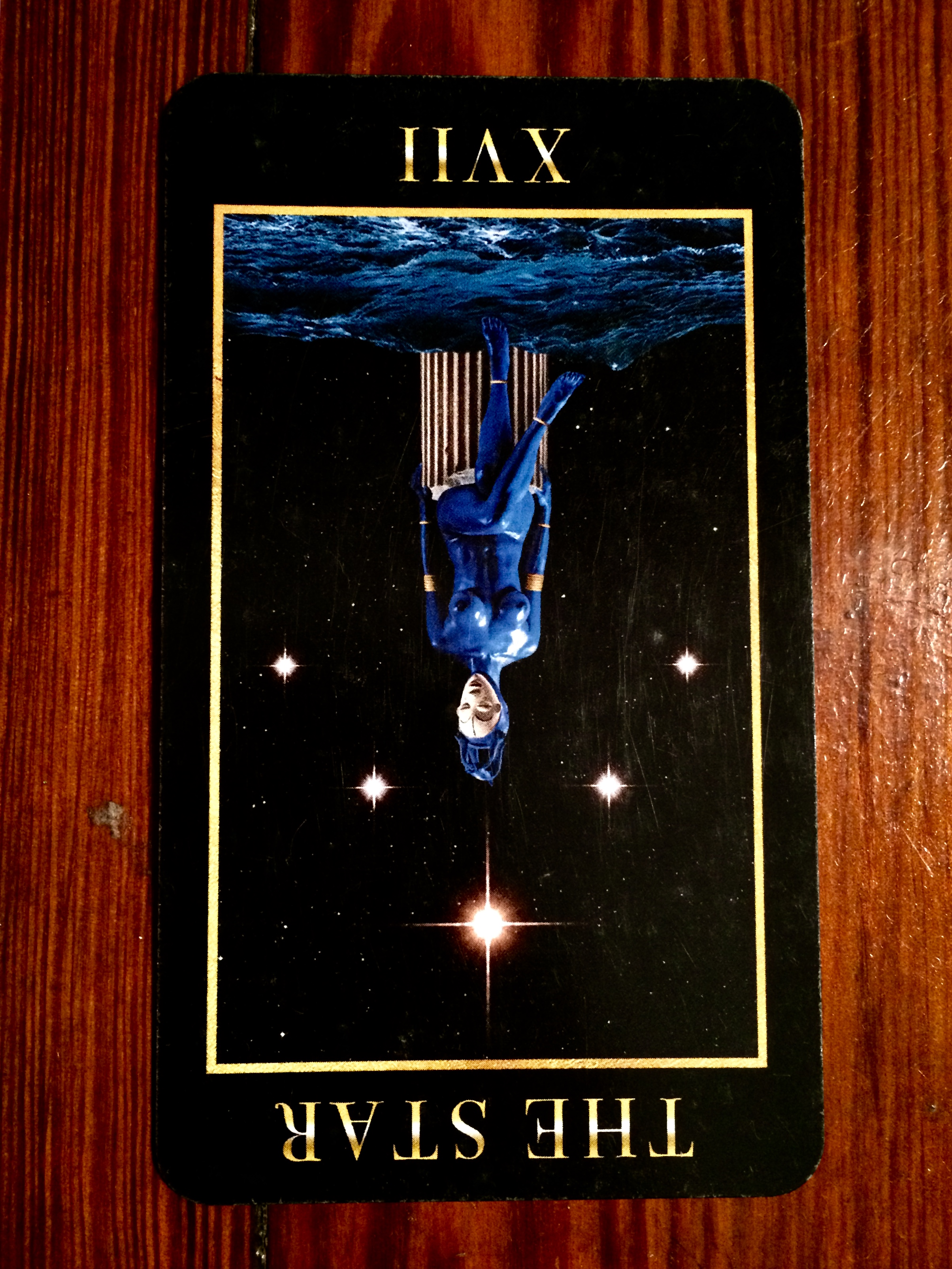 The Star card reversed from  Manzel's Tarot