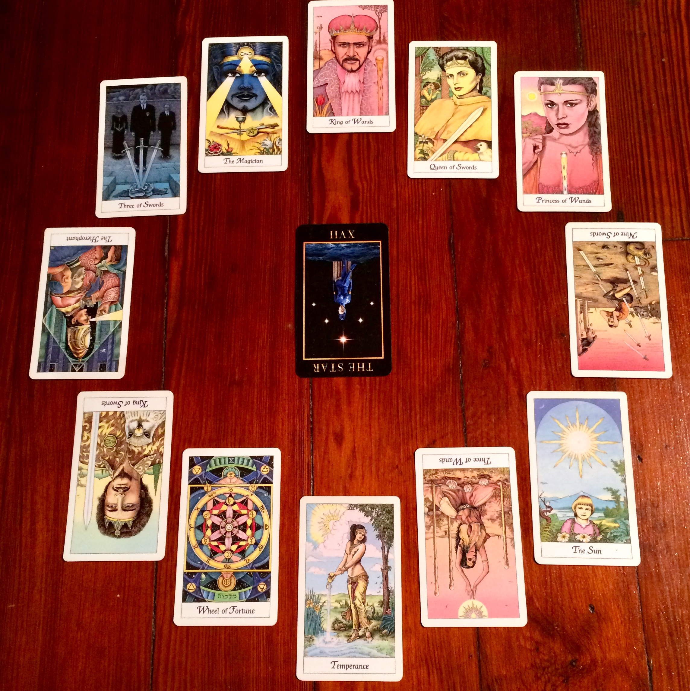 Astrological spread with  Manzel's Tarot  and The Cosmic Tarot