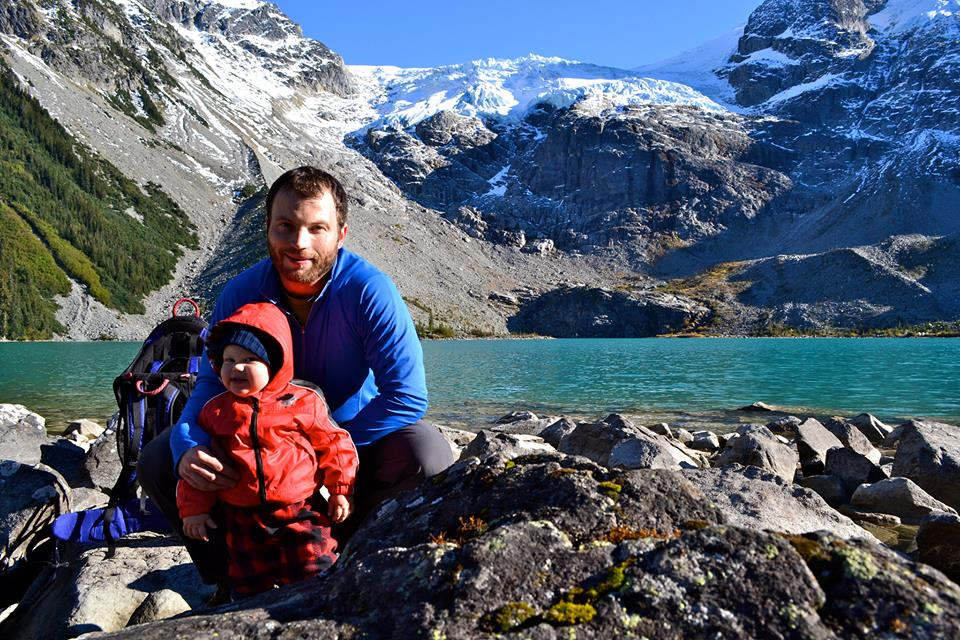 Grainful President, Jan Pajerski, with his son in the Rocky Mountains