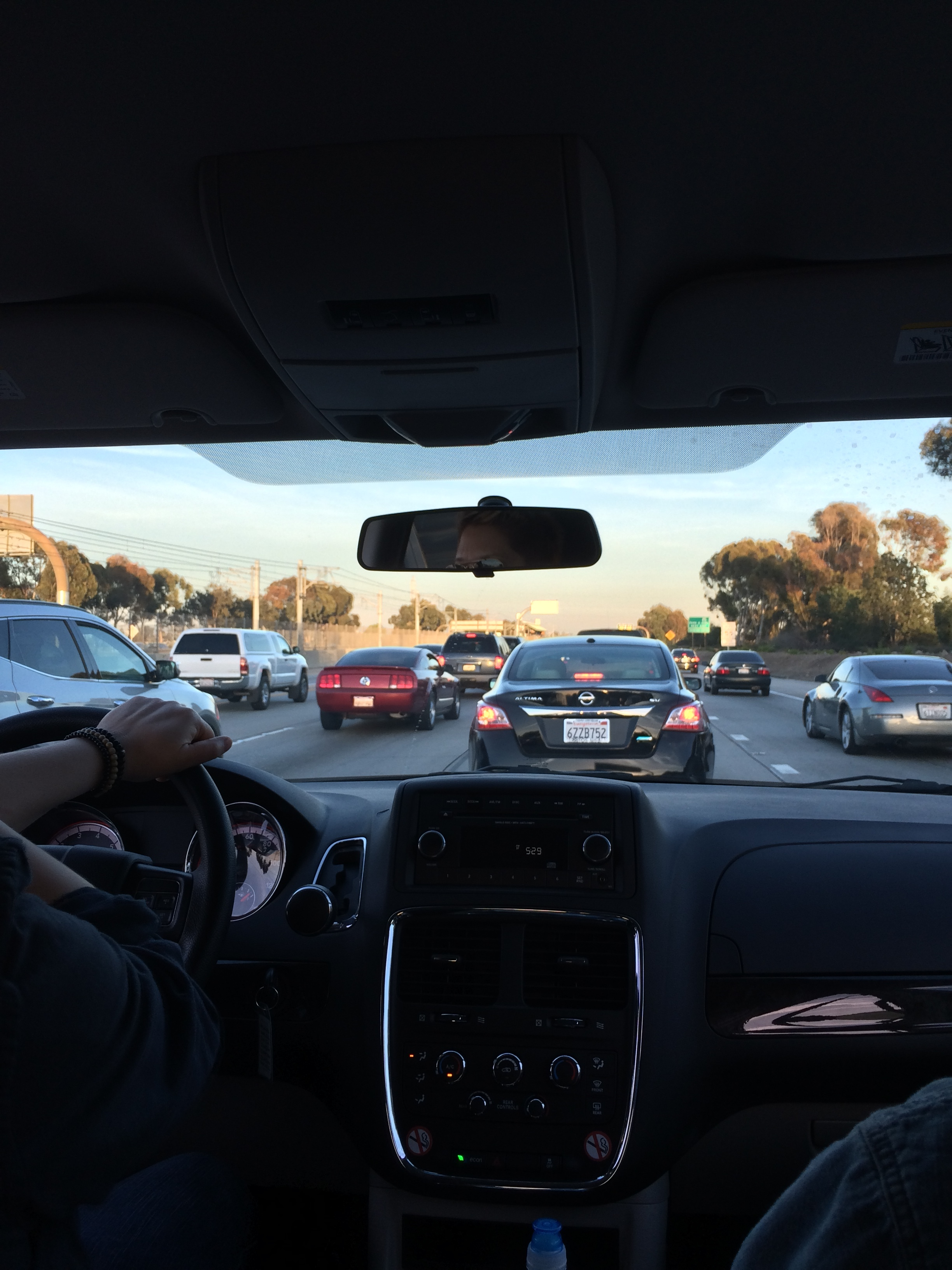And the traffic was heavy from the start...