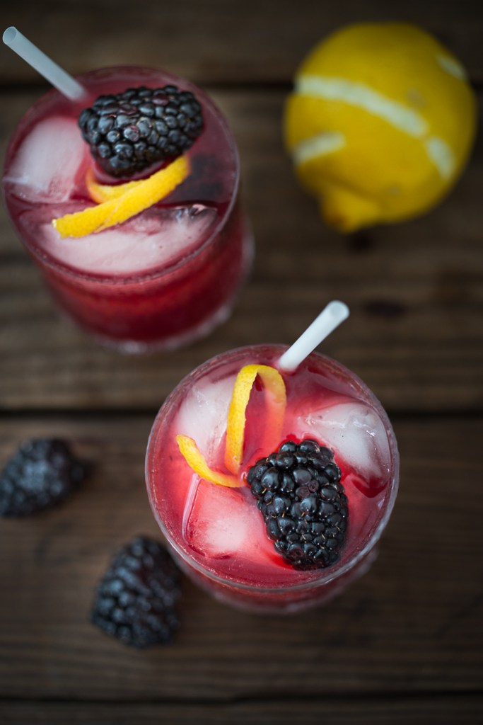 You really can't go wrong with muddled blackberries, soda and lemon (and maybe some gin for the +21). This twist on the traditional bramble takes a little effort to prepare, but is well worth the work! See the recipe at feastingathome.com,  here .