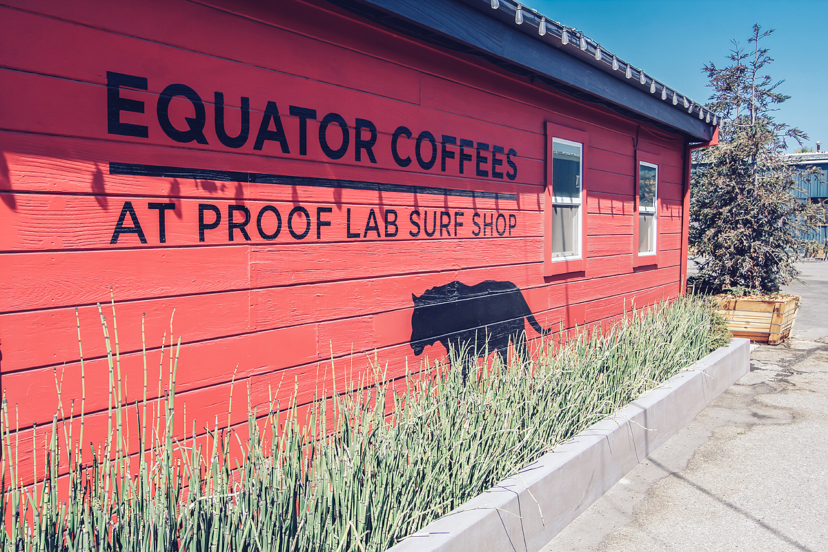 Equator Coffee and Teas at Proof Lab Surf Shop 254 Shoreline Hwy Mill Valley Ca 94941