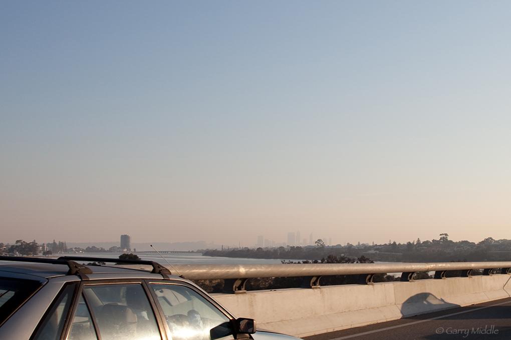 Plate 5: Smog over the Perth CBD.