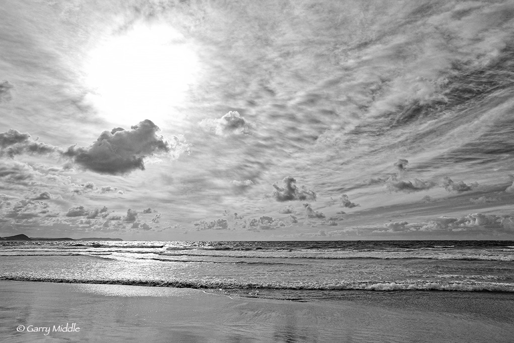 Peaceful Bay morning sky B&W.jpg