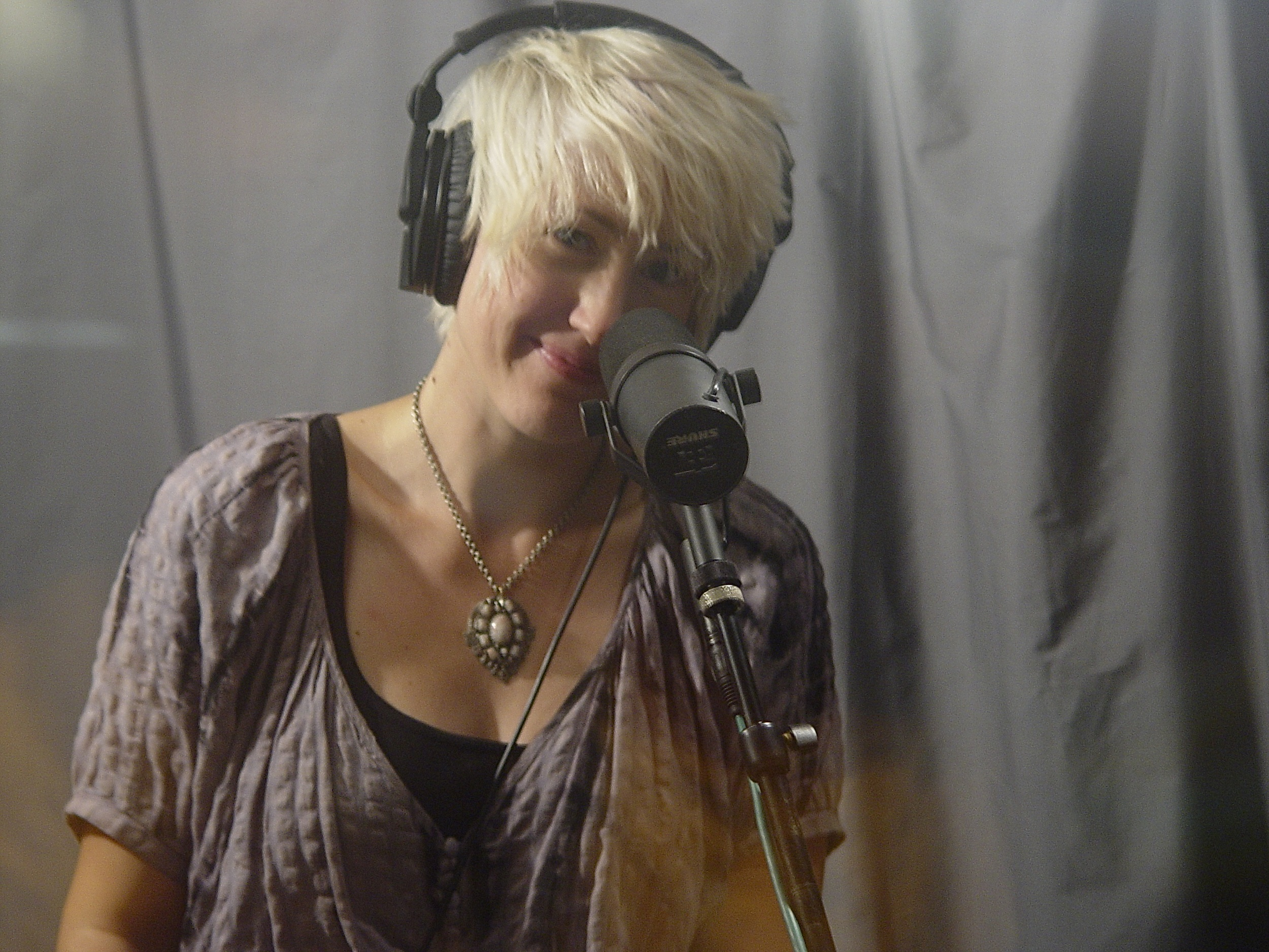 In the vocal booth at Destiny Studios in Nashville, TN.