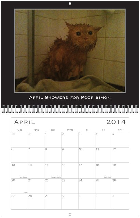 Simon Calendar April