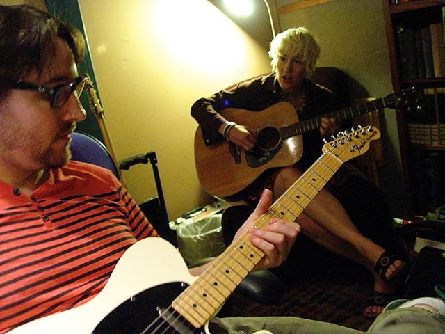 Here's Bobby and I working out some parts. Photo credit: Jonathan Morse.