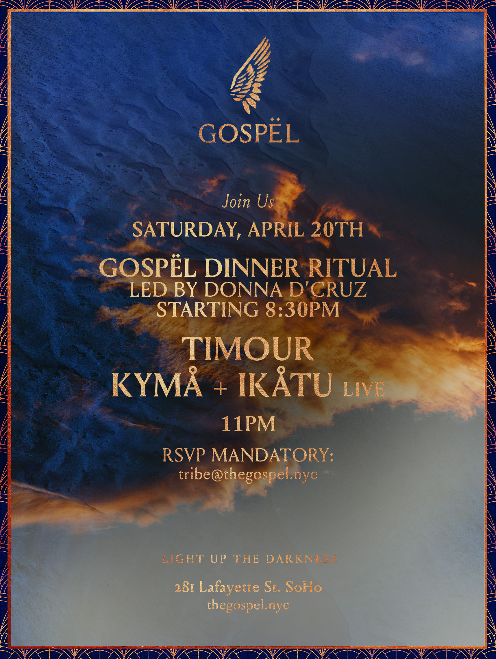 DJ KYMÅ + IKÅTU Live Set @ Gospël APRIL 20TH — Kyma