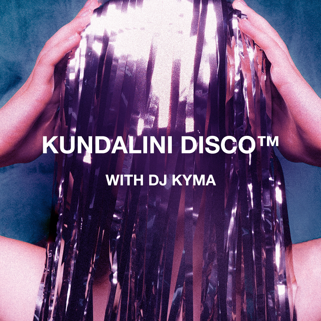 Wednesday, July 10 8:30PM-10:00PM  $45   The bio-chemical experience of Kundalini Disco™️ is different for every body. The intention is the embodiment of light, harmony and the amplification of life sparkling and dancing through every cell of your being. It is a sensual and rhythmic experience of your breathe and body set to modern beats. Applying the powerful technology of kundalini yoga and meditation as taught by Yogi Bhajan in sexy settings we intentionally breathe and move with purpose for holistic well-being, connection and community. A safe space to move and groove with your highest intentions and socialize with spirit.   CLICK HERE  TO RESERVE YOUR SPACE + MORE INFO
