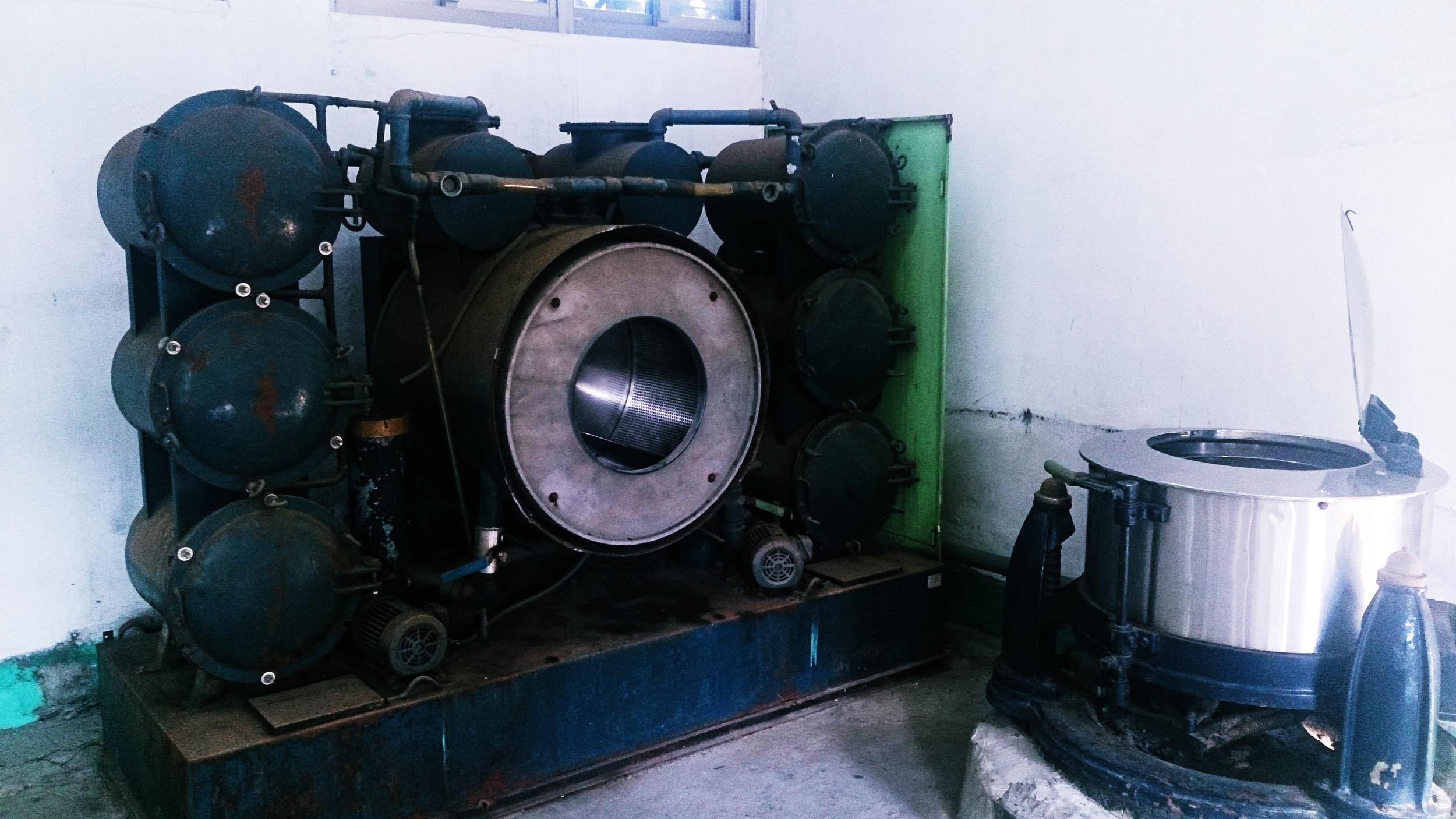 A huge clothes dryer
