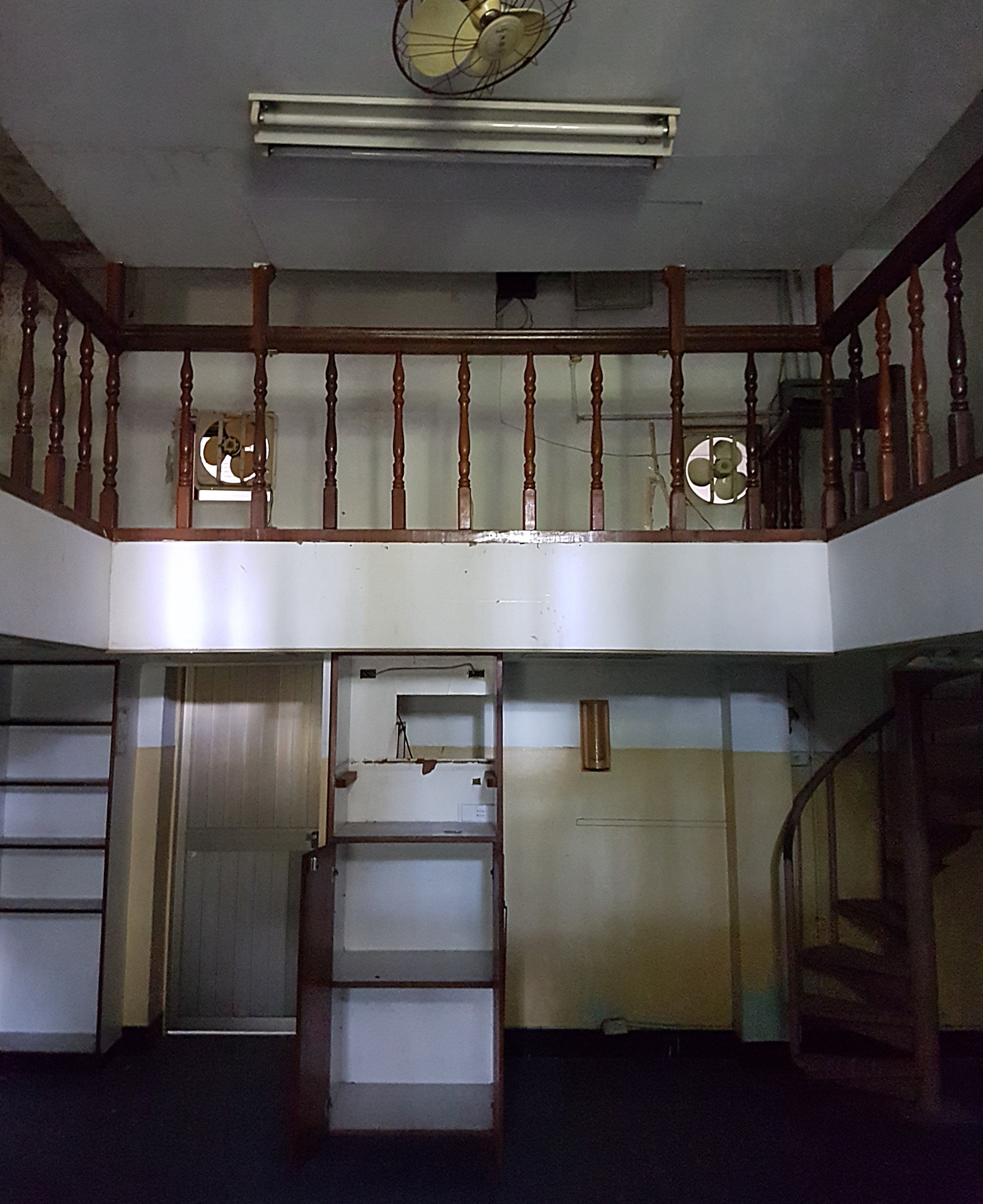 One of the rooms with the strange balconies.