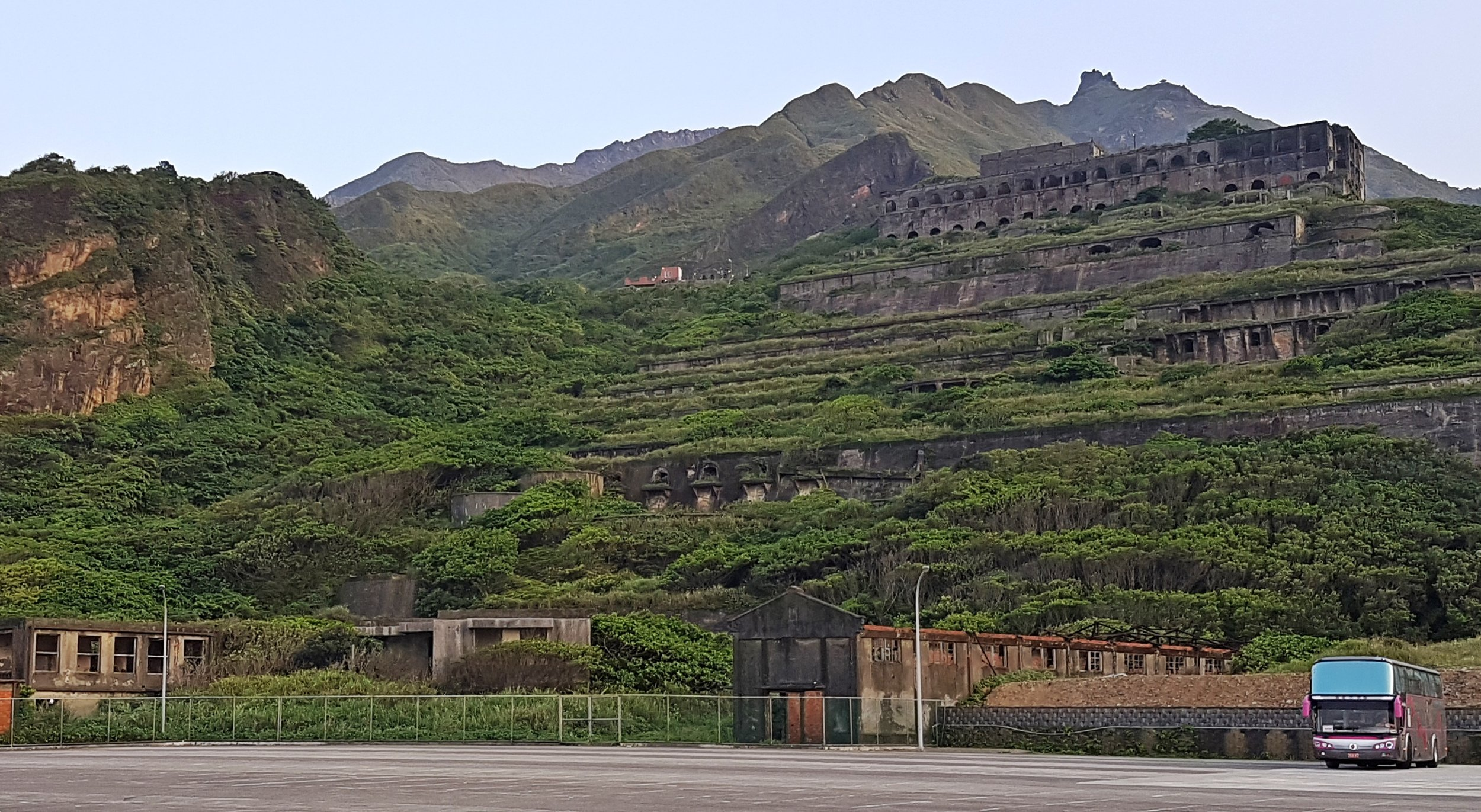 The car park where the 8 and 9 tunnels are buried.
