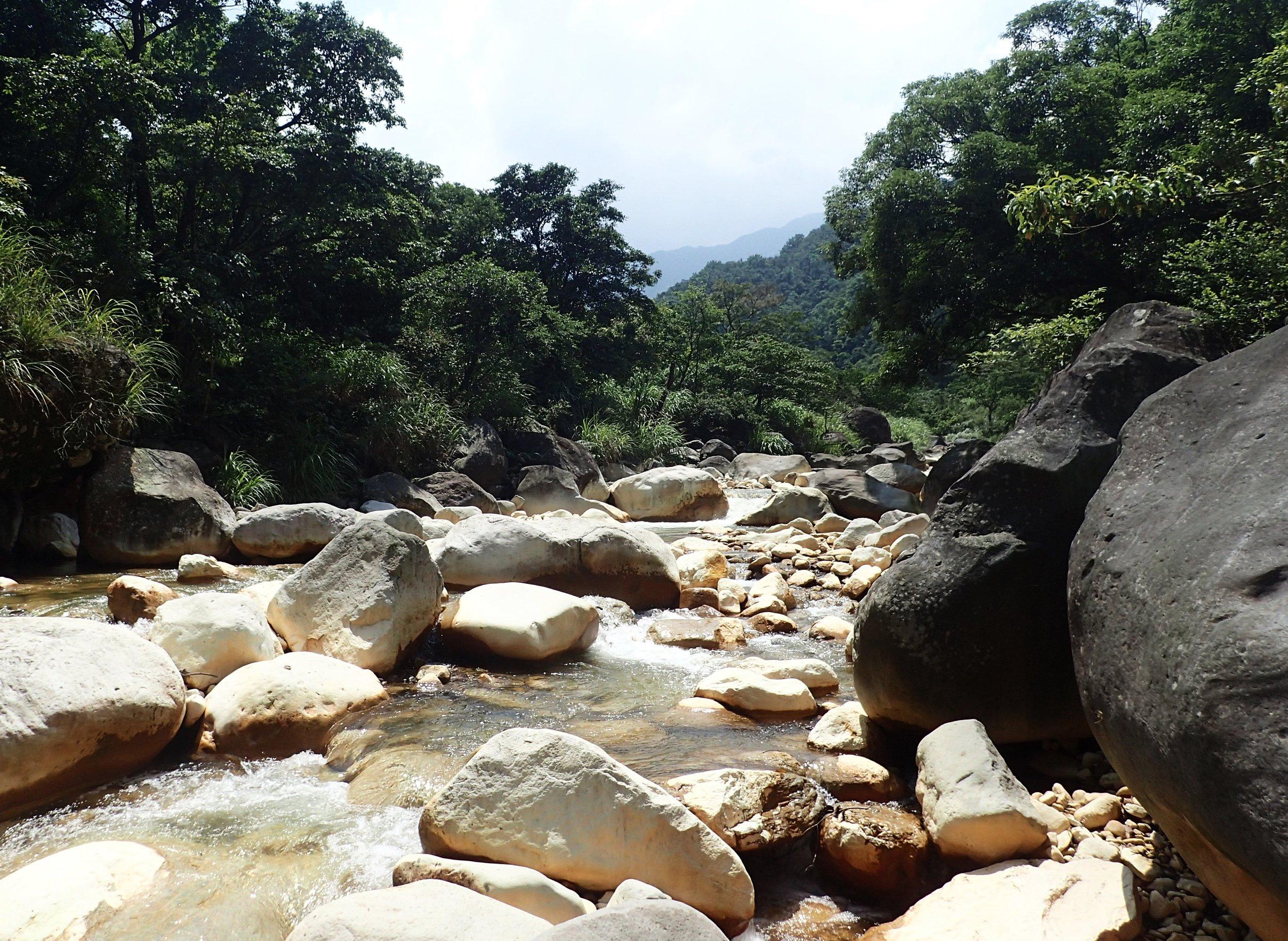 The Huangxi above the Bayan Creek