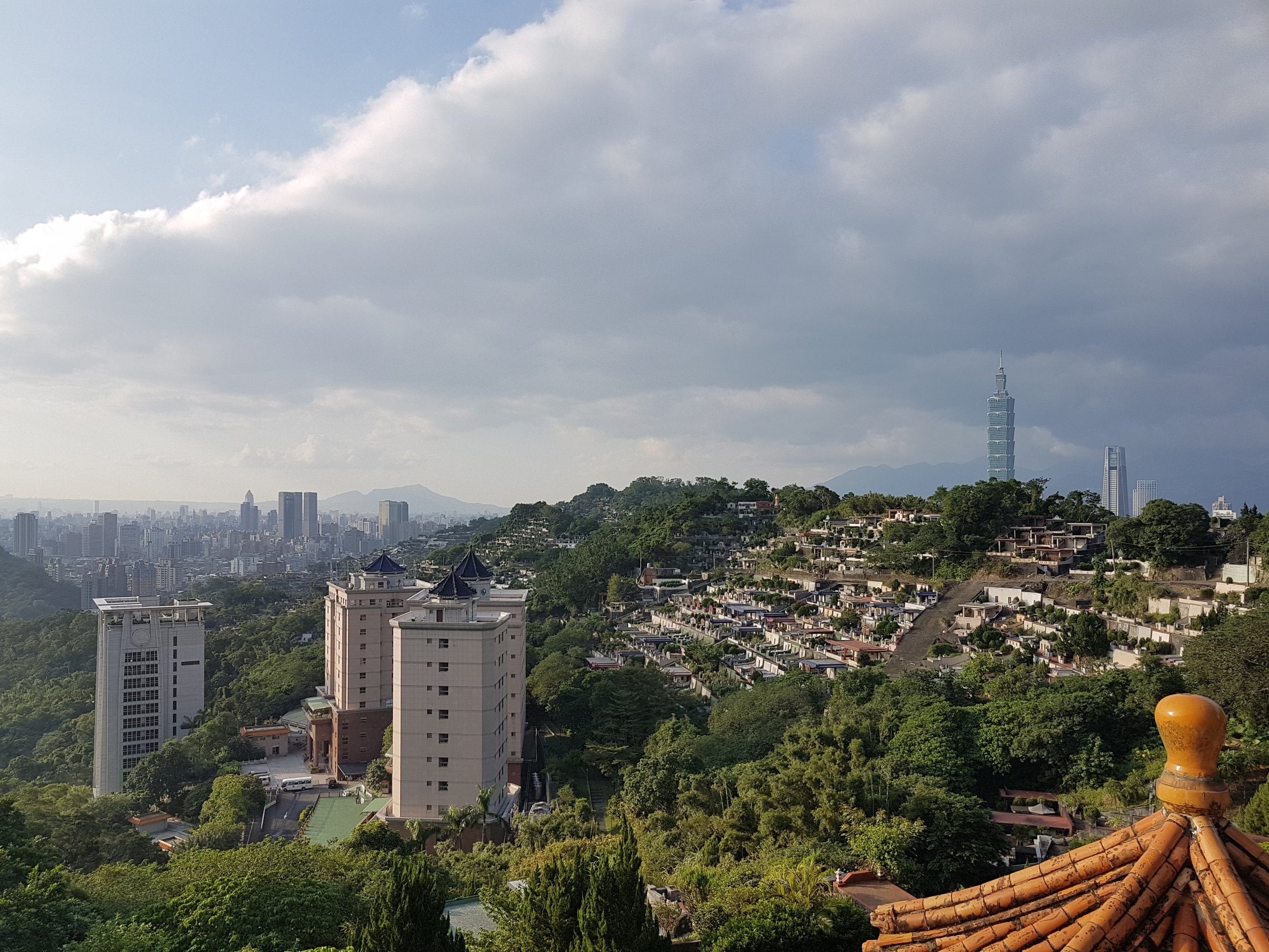 Above Taipei on a clear day