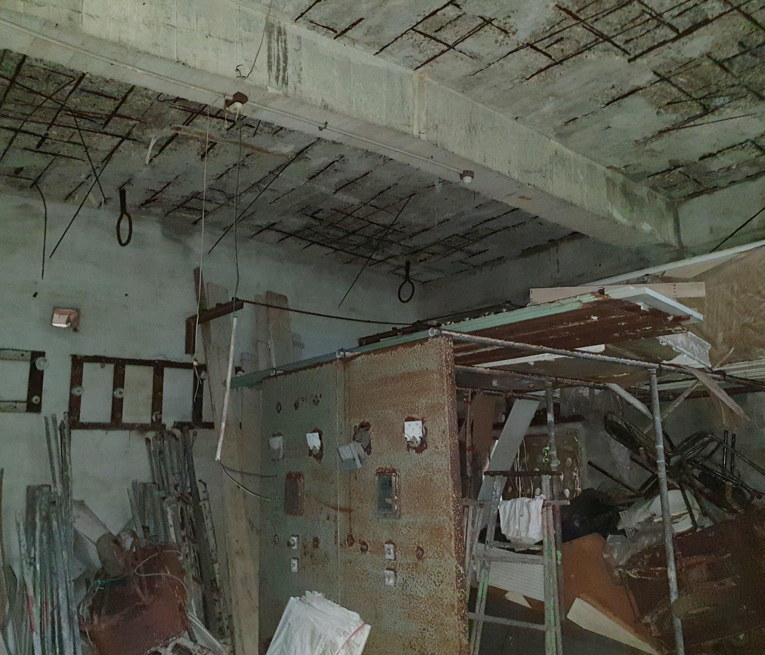 Badouzi mine entrance and electricity room