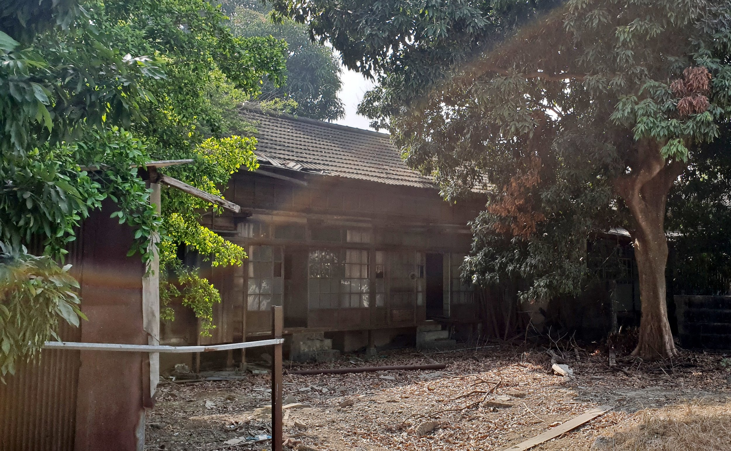 One of the few wooden houses left and the area where there used to be many