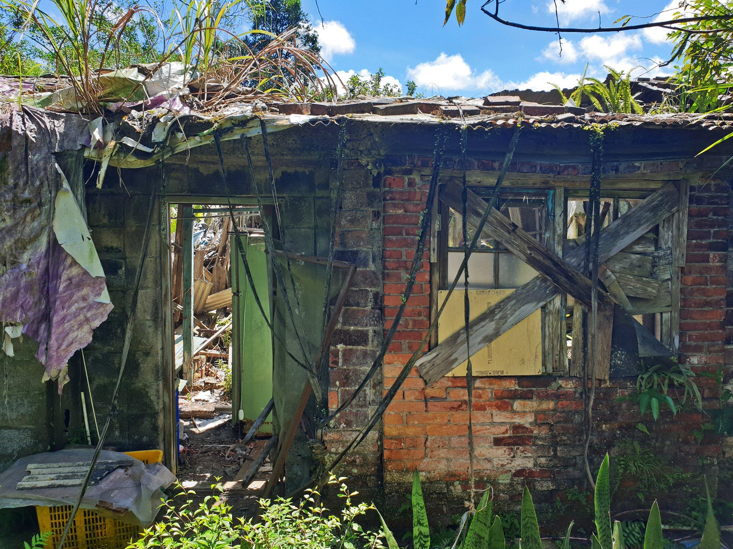Ruined dormitory in Zhongpu