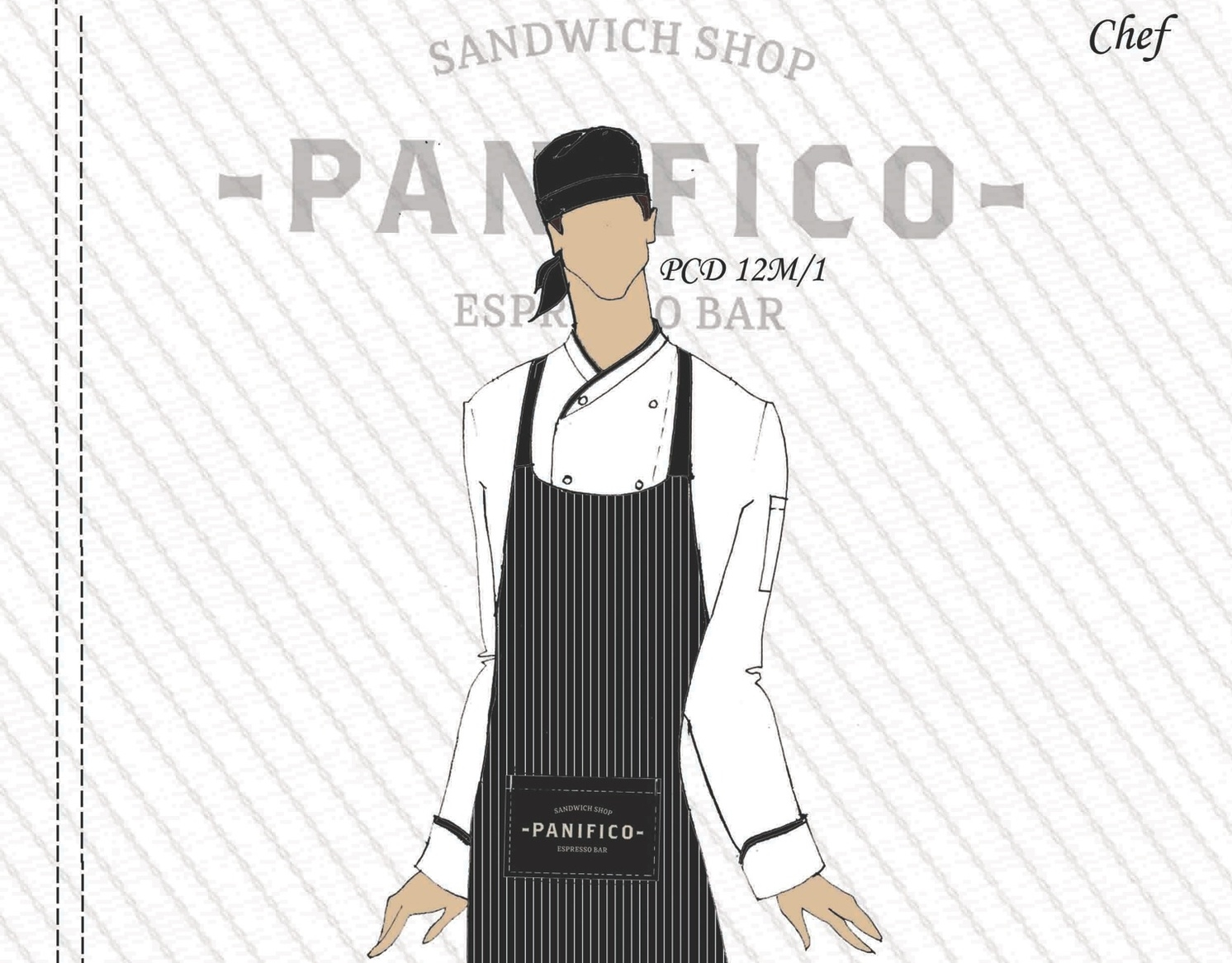 The new Panifico Chef's uniform concept. Going for the classic look!