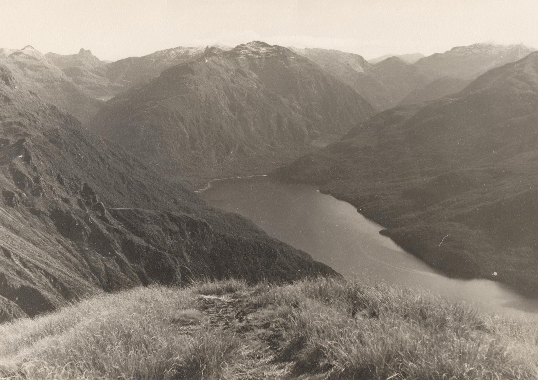 Unidentified area of Te Moana o Atawhenua, near Lake Te Anau, Aotearoa NZ. c.1948