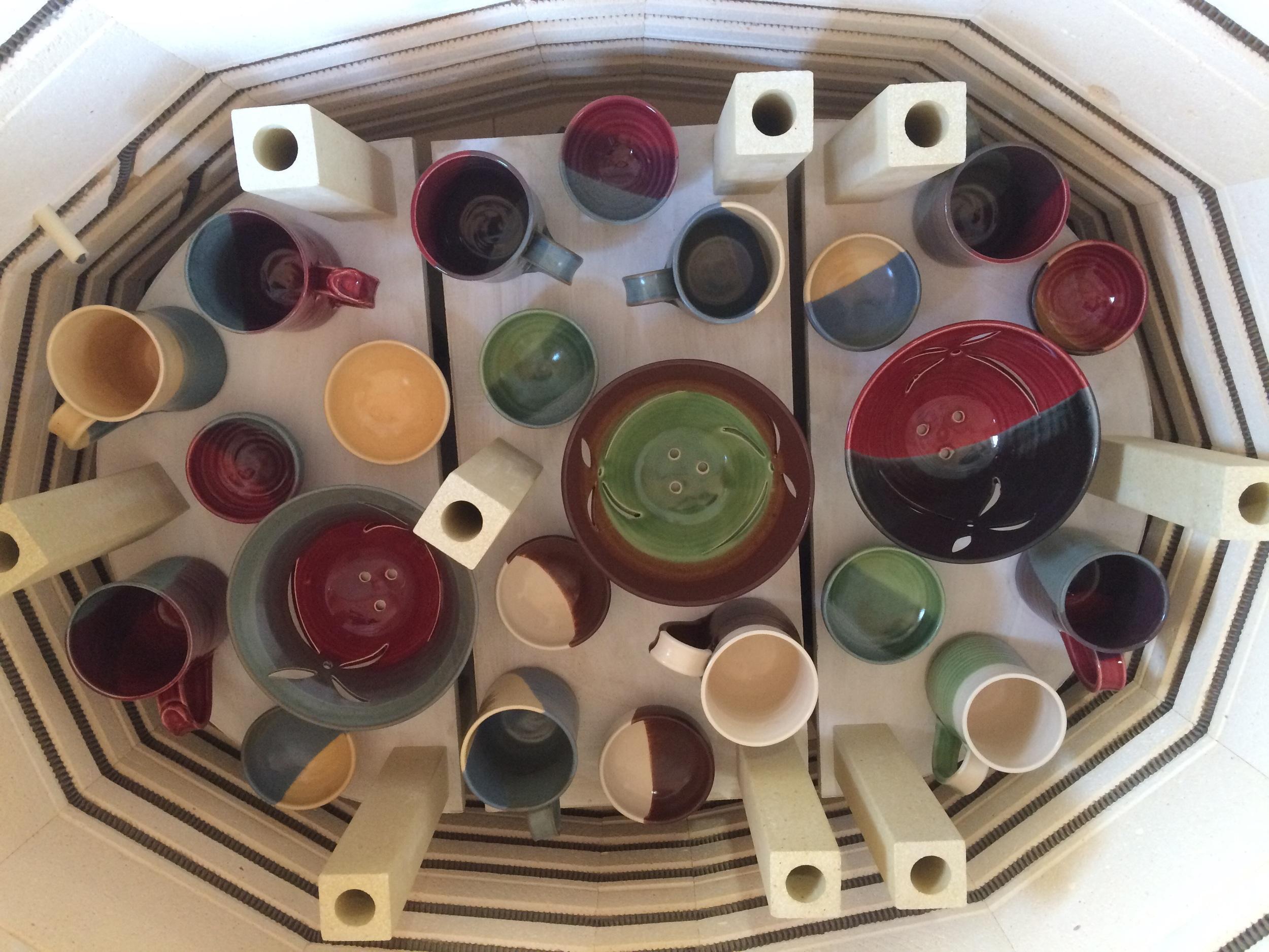 Kiln load of pots
