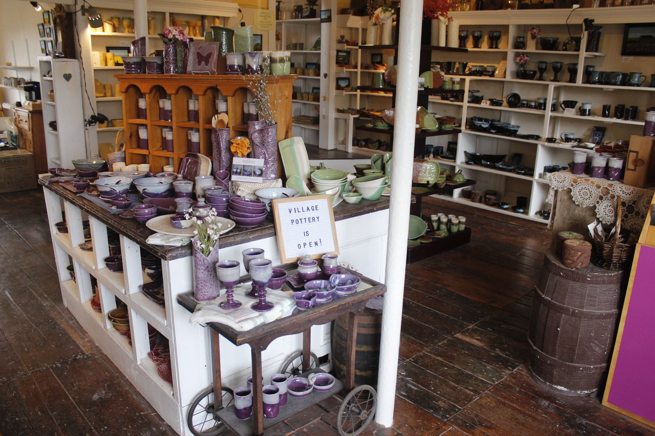 The shop will be full to the brim with beautiful pottery come May 11th - opening weekend for our 46th season!