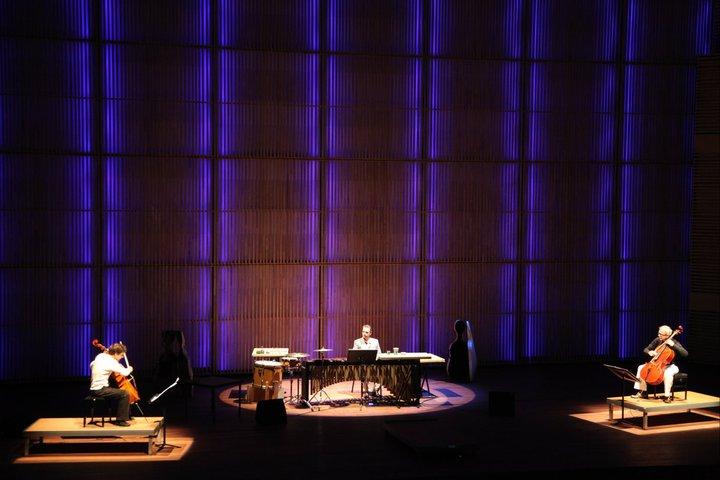 Arne Deforce playing Kagel's Match at Muziekgebouw Amsterdam
