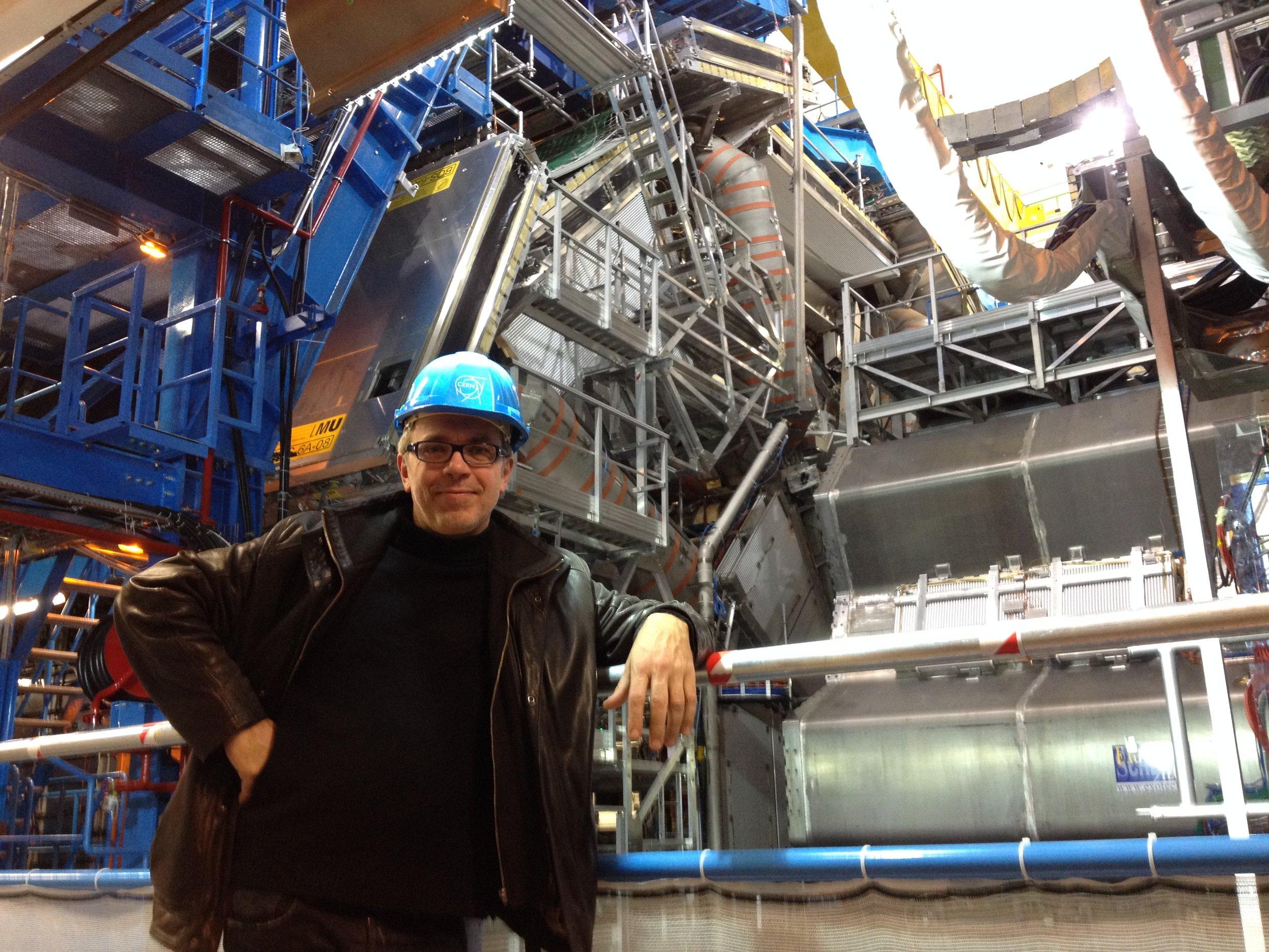 Arne Deforce visit at CERN Large Hadron Collider