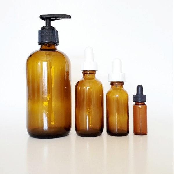 - the 3 X O Botanicals are bottled in UV blocking glass+ are available in2 drams1 ounce2 ounces8 ounces