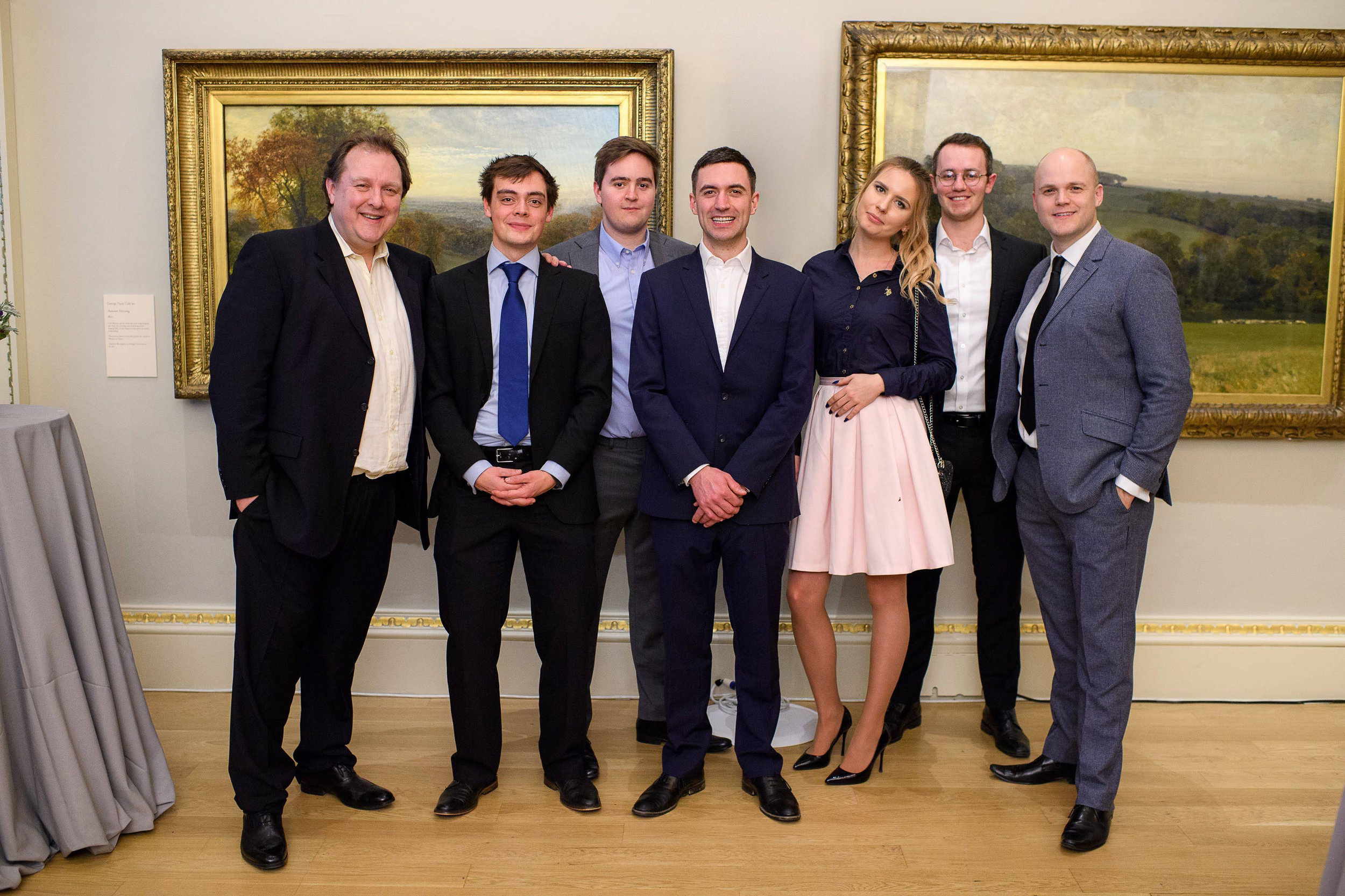 The 3B team at the Watercolour World site launch at The Royal Academy, 31st January 2019