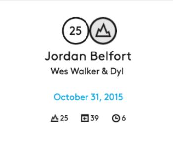 Jordan Belfort peaked at rank 25 out of the TOP 100